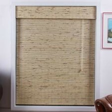 Arlo Blinds Bamboo Roman Shade in Petite Tropical Rustic