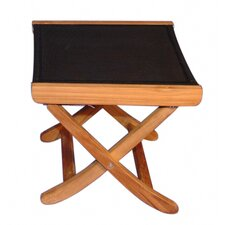 <strong>Regal Teak</strong> Teak Sling Foot Ottoman