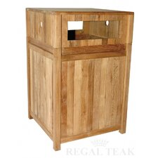 Teak Litter Receptacle Cover