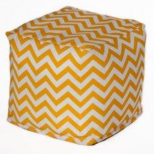 Chevron Bean Bag Cube Ottoman