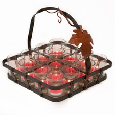 Vineyard Caddy Glass Votive Set