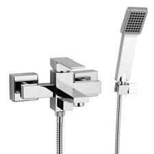 <strong>Remer by Nameek's</strong> Single Handle Wall Mounted Tub Filler Trim with Hand Shower