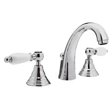 <strong>Remer by Nameek's</strong> Double Handle Deck Mounted Bathroom Sink Faucet