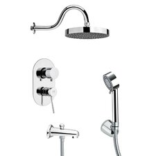 Tyga Pressure Balance Tub and Shower Faucet