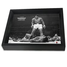 Muhammad Ali Versus Sonny Liston Vintage Advertisement Shadow Box