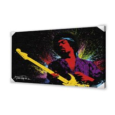 Jimi Hendrix Memorabilia on Canvas
