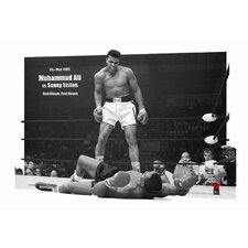 3D Muhammad Ali Versus Sonny Liston Framed Vintage Advertisement