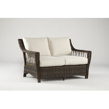 <strong>South Sea Rattan</strong> Saint John Loveseat with Cushions