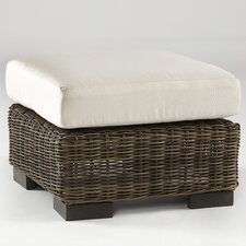 <strong>South Sea Rattan</strong> Naples Ottoman with Cushion