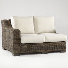 <strong>South Sea Rattan</strong> Naples Left Arm Sectional Piece with Cushions