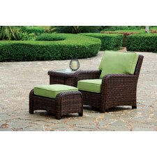 Saint Tropez Deep Seating Chair and Ottoman with Cushions