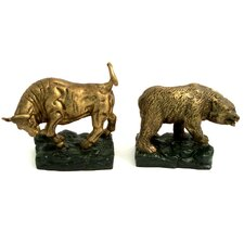 <strong>Bey-Berk</strong> Stock Market Book Ends (Set of 2)