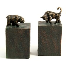<strong>Bey-Berk</strong> Bull and Bear Book Ends (Set of 2)