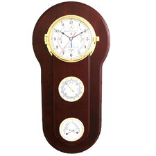 Tide and Time Wall Clock with Barometer and Thermometer