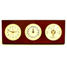 <strong>Bey-Berk</strong> Time Tide Wall Clock with Barometer and Thermometer