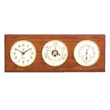 Wall Clock with Barometer, Thermometer and Hygrometer