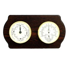 Tide Wall Clock with Thermometer and Hygrometer