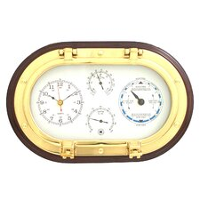 Brass Porthole Clock,Tide Clock,Thermometer, and Hygrometer