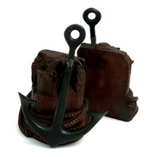<strong>Bey-Berk</strong> Brass Anchor Book Ends (Set of 2)