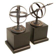 Sundial Book Ends (Set of 2)