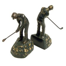 Brass Golfer Bookend