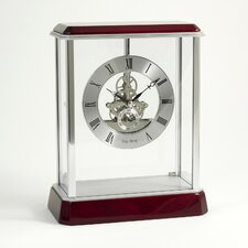 <strong>Bey-Berk</strong> Madrid Skeleton Clock in Silver