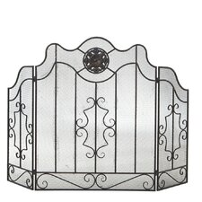 Industrial Medallion Fireplace Screen