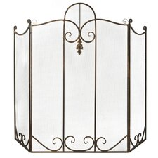 Leaf 1 Panel Metal Fireplace Screen