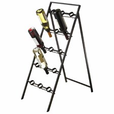 Folding 15 Bottle Wine Rack
