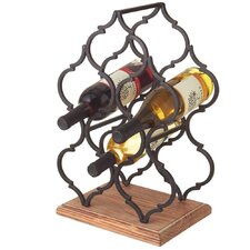 Moroccan 6 Bottle Tabletop Wine Holder