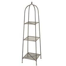 Distressed Circle Punch Etagere
