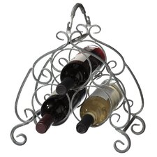Scroll Triple Wine Bottle Holder