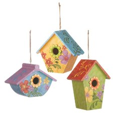 Colorful Hand Painted Hanging Birdhouse