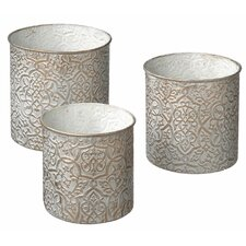 Brocade Round Nesting Storage (Set of 3)