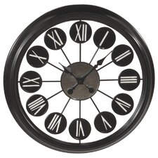 "Oversized 24"" Roman Numeral Mirror Wall Clock"