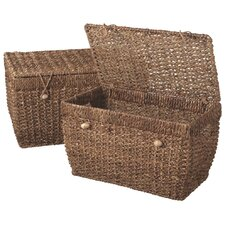Braided Woven Trunk (Set of 2)