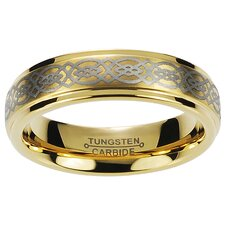 Daxx Men's Tungsten Engraved Celtic Knot Band