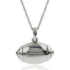 Sterling Silver Football Pendant