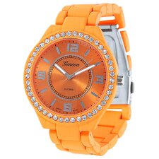 Geneva Platinum Women's Neon Link Watch