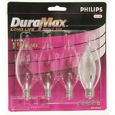 <strong>Philips Home and Healthcare Solutions</strong> DuraMax Bent Tip Decorative Chandelier Light Bulb (Pack of 4)