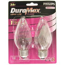<strong>Philips Home and Healthcare Solutions</strong> DuraMax Straight Flame Chandelier Light Bulb (Pack of 2)