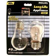 <strong>Philips Home and Healthcare Solutions</strong> 2 Count Appliance 20W Clear 120-Volt  Incandescent Light Bulb