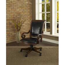 Winsome High-Back Leather Executive Chair with Arms