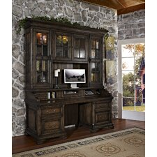 San Andorra Credenza Desk with Hutch