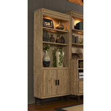 Blair Door Bookcase with Three-Way Ambient Touch Lighting