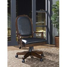 Madison Mid-Back Leather Office Chair with Arms