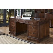 <strong>iQuest Furniture</strong> Madison Executive Desk with File Drawers