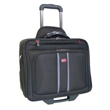 Biztech CompuRoller-Double Compartment Wheeled Laptop Briefcase