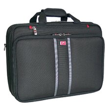 Biztech CompuFlyer 3-Double Compartment Checkpoint-Friendly Laptop Briefcase