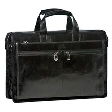 Signature Classic Leather Laptop Briefcase